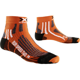 X-Socks Run Speed Two Short Calze da corsa arancione